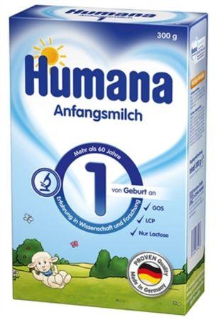Смесь сухая молочная Humana 1 c пребиотиками