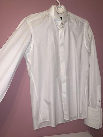 biała koszula ślubna na spinki, pod muchę Giacomo Conti M 39