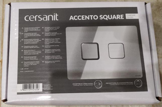 Przycisk do WC Cersanit Accento Square Chrome Gloss