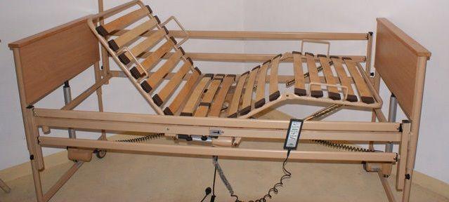 używane z gwarancją skręcane łóżko rehabilitacyjne