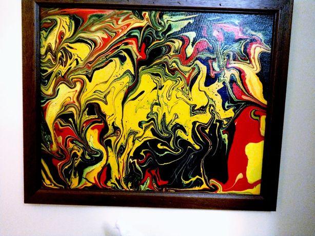 Obraz abstrakcja akryl