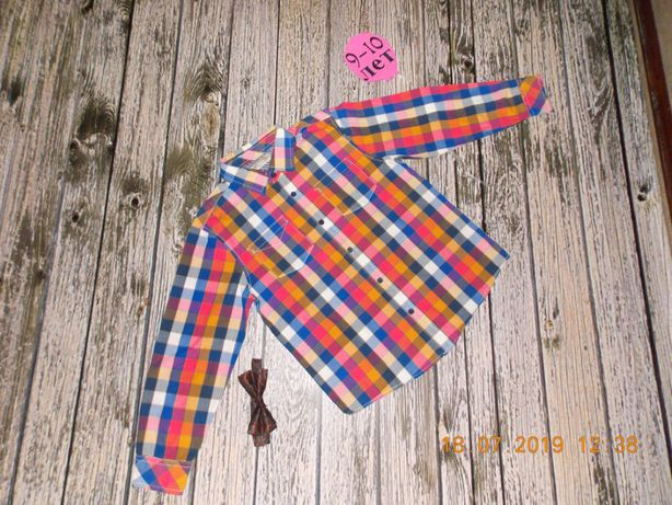 Красивая рубашка M&S для мальчика 10 лет, 140 см