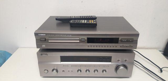 Wzmacniacz i Cd Yamaha  cdx-396 i rx-397 z dwoma pilotami