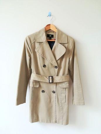 H&M płaszcz trencz prochowiec jak nowy rozm. 40 jesienny elegancki