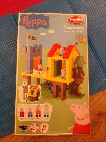 Klocki Peppa pasują do Lego duplo- domek na drzewie