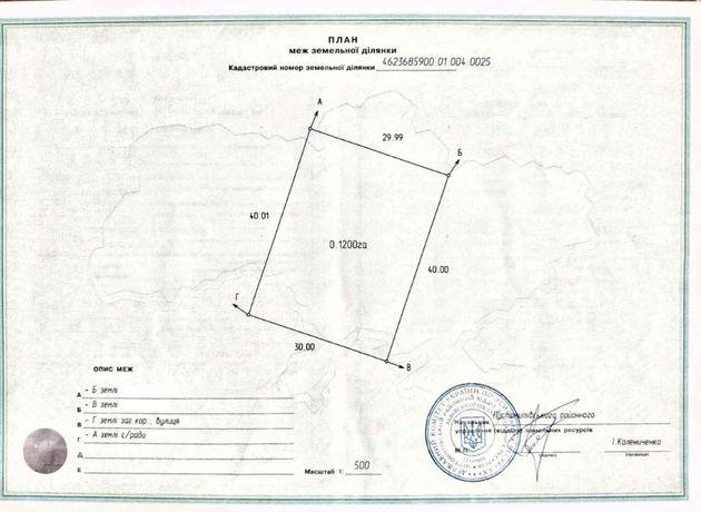 Земельна ділянка під садибну забудову та ОСГ 33 сотки в с. Семенівка
