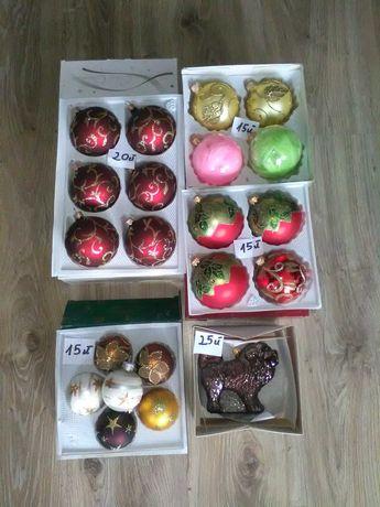Bombki świąteczne, mastif tybetański, wiewiórka, buldog angielski,