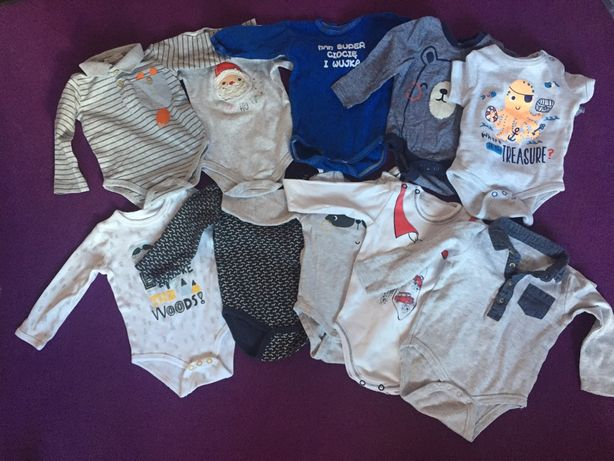 Body niemowlęce ubranka rozmiar 68 10 szt. bawełna
