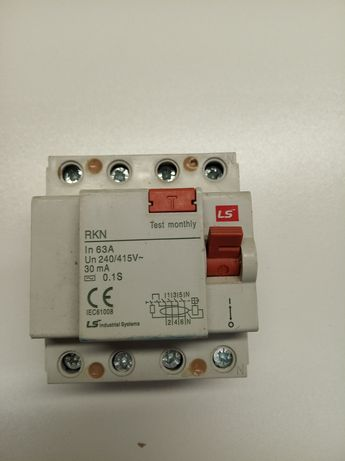 Cont Térmico para motor, Diferencial 63A-30mA, Porta fusíveis 3X 10x38