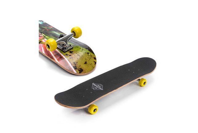 Deskorolka drewniana młodzieżowa  Skateboard Deska klasyczna
