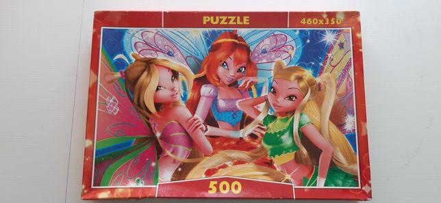 Пазл Винкс бабочки, 500 элементов