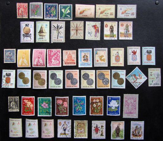 Lote 50 selos (1914 a 1969) Timor, Índia port. e Macau