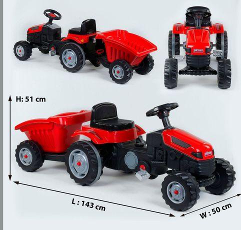Трактор педальний з причепом Pilsan 07-316 GREEN