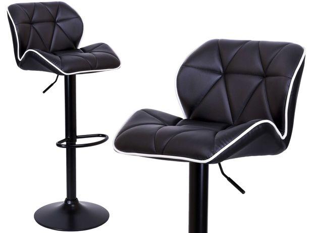hoker Grappo czarny pikowany krzesło barowe obrotowe