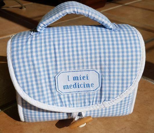 Bolsinha artigos higiene bebé azul