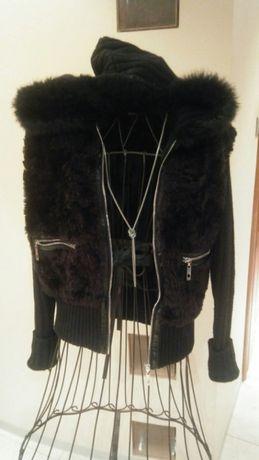 Kurteczka kurtka sweter Reserved rozm 36/38 slim wełna kaptur używana