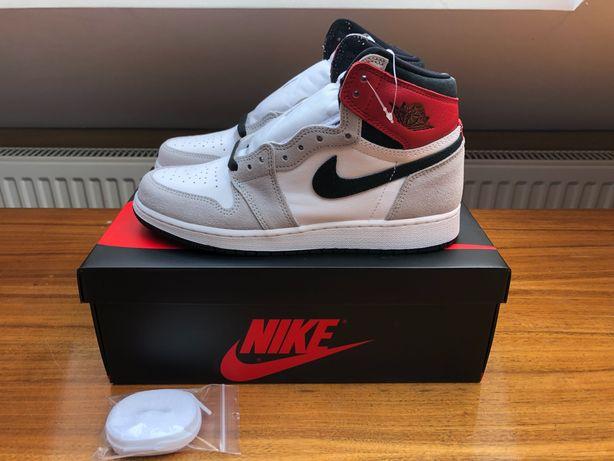 "Buty Nike Air Jordan 1 High (GS) ""Smoke Grey"" (38,5=6Y)"
