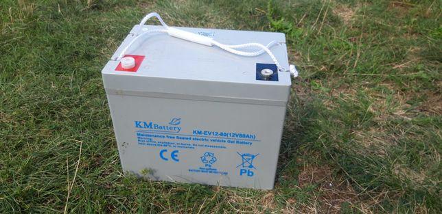 Bateria/Akumulator żelowy KM Battery KM-EV 12v 80Ah