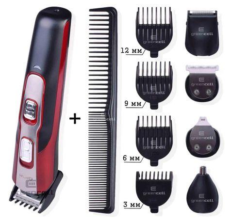 Машинка Триммер для стрижки волос бороды усов бакенбард Gemei 592 10в1