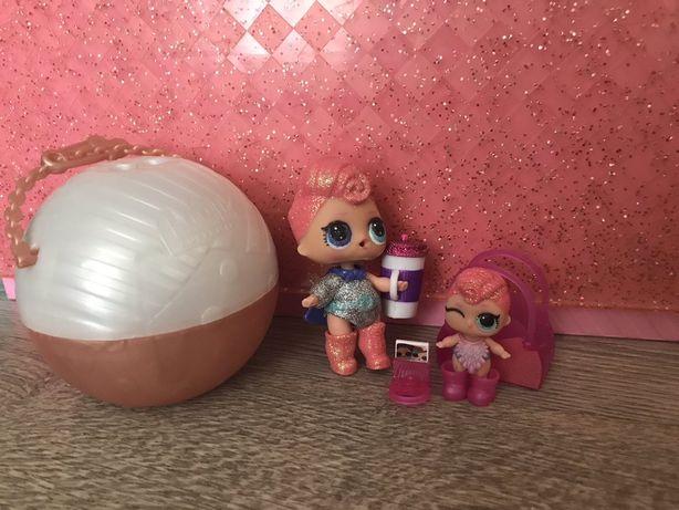 Продам большой золотой шар Lol+ 4 куклы из него