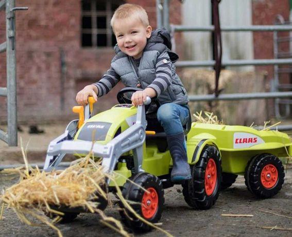 Traktorek dziecięcy BIG CLAAS Celtis KOPARKA + PRZYCZEPKA