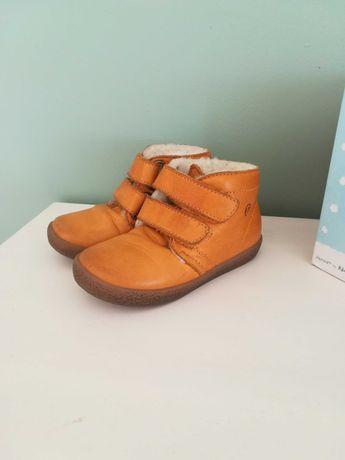 Skórzane ocieplane buty zimowe trzewiki Falcotto rozm 23 jak Emel