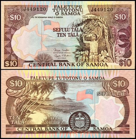 Banknot Samoa 10 Tala ND 2005 UNC