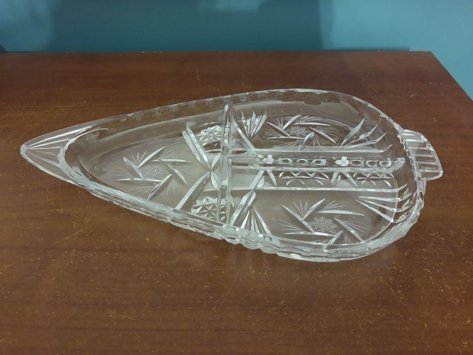 Patera kryształowa liść Imielin - image 1