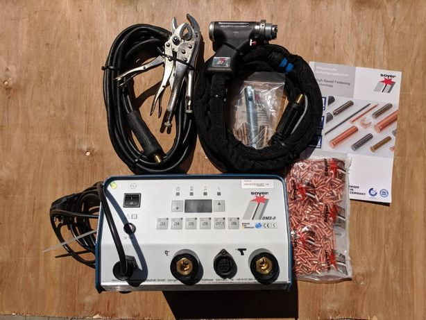 Конденсаторний зварювальний апарат (шпилькозварка) Soyer BMS-9 + PS-9