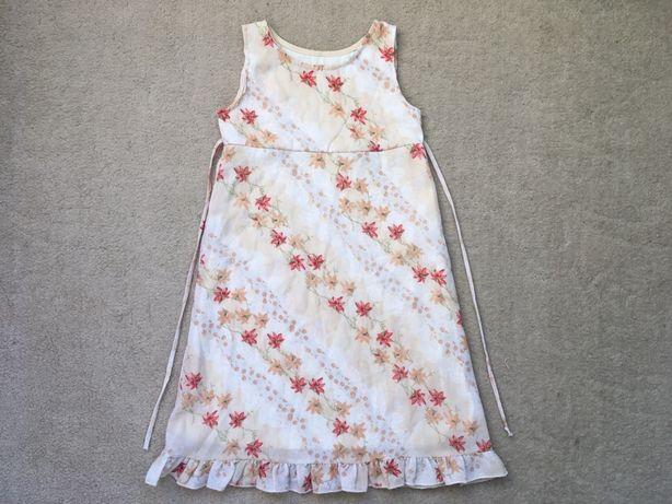 Платье в цветок, летнее, легкое, цветочек, для девочки
