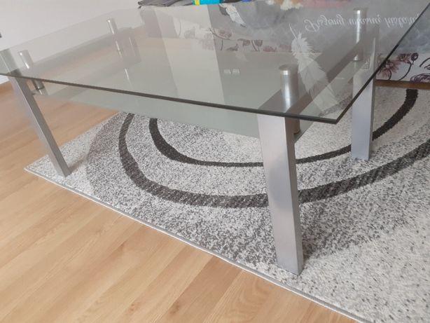 Ława szklana (metal, szkło)
