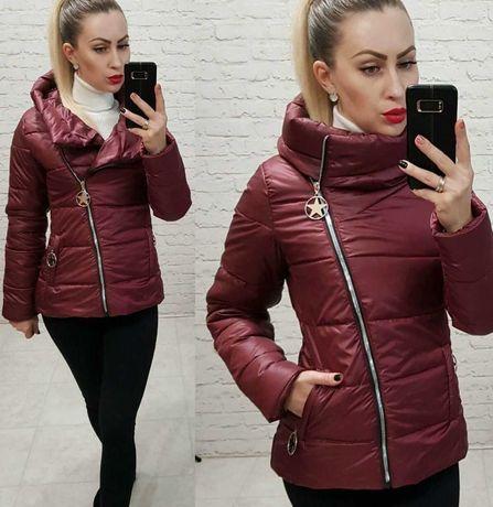 Короткая куртка с капюшоном новая женская 42 44 46 48 арт 501