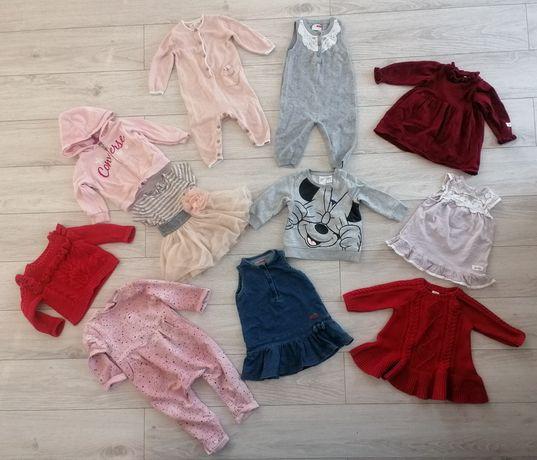 Ubranka dziewczynka bluzy pajace sukienki sweterki 0-3-6 miesięcy