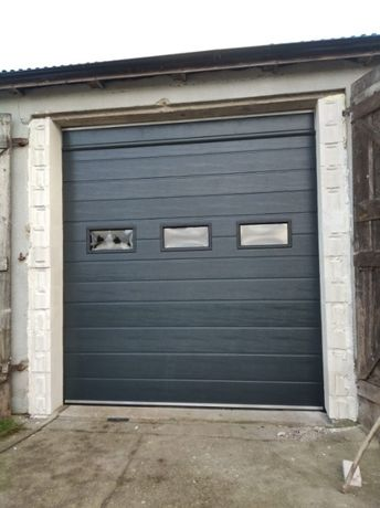 Drzwi garażowe OD RĘKI brama segmentowa panelowa 299x300, 3094zł