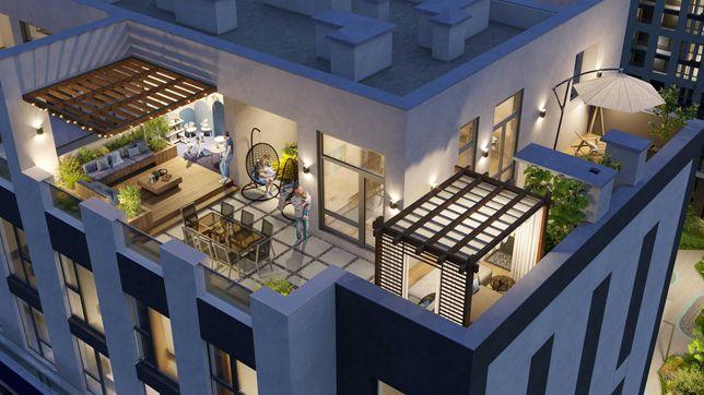 продам двух уровневую квартиру с террасой в ЖК Скай Авеню, Интергалбуд