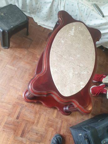Mesa de mármore sala vintage