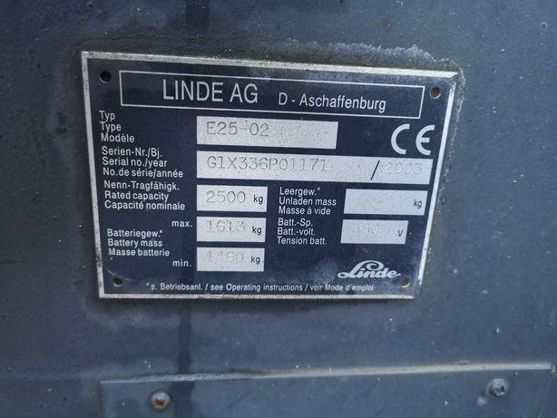 Wózek widłowy Linde E25-02