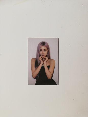 blackpink rose photocard karta kpop the album