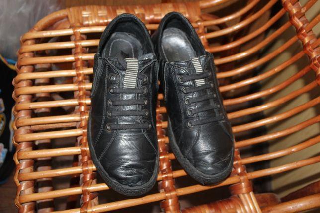 Кожаные туфли на мальчика для школы, 36-37 размер