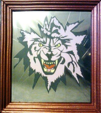 """Картина в рамке """"волк"""""""