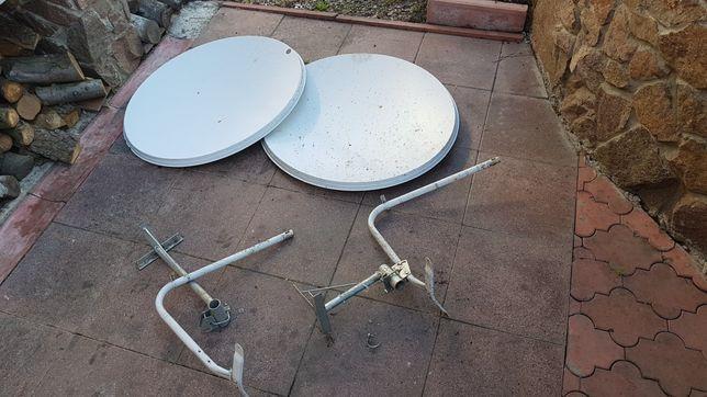Две антенны спутниковые + 4 головки