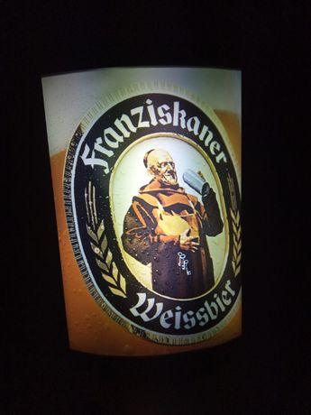 Reklama świetlna piwa Franziskaner Weissbier - stojąca lub wisząca