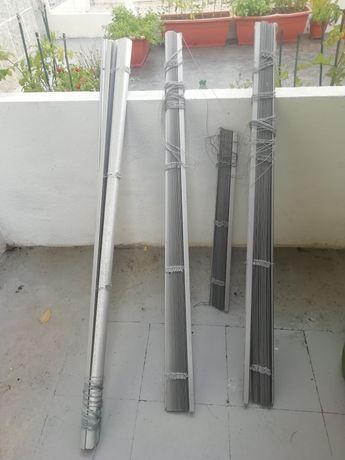 5 Estores janelas em alumínio