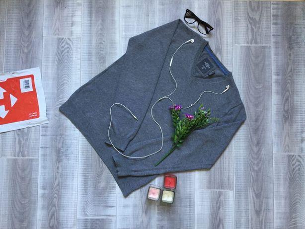 Свитер серый H&M, размер М L, тёплый котон шерсть кофта джемпер худи