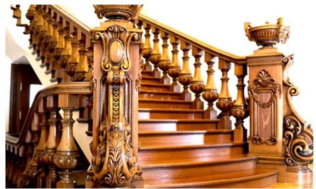 Балясини на сходи дерев'яні.Різьблені балясини.Підсходини