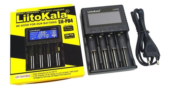 Зарядка LiitoKala Lii-PD4 2A на 4 аккумулятора Ni-MH/Li-ion. ОРИГИНАЛ