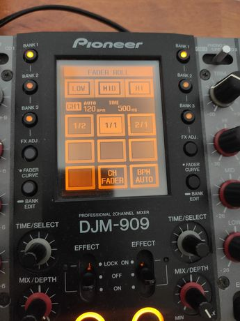 Mikser Pioneer DJM-909 scratch efektor + słuchawki + torba Reloop