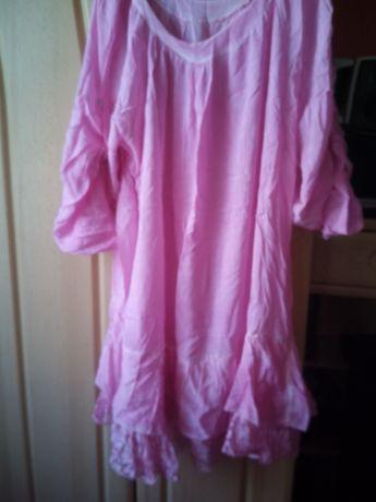 Włoska tunika sukienka z koronka xxl
