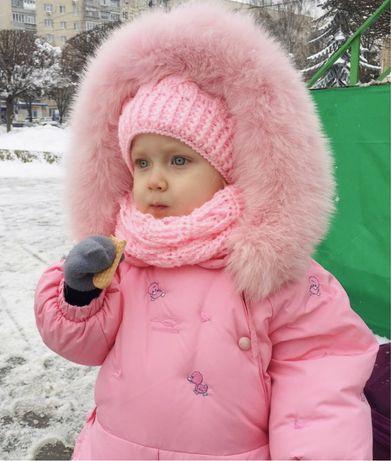Комбинезон зимний пуховой Manudieci, оригинал, пуховик девочке 74 80