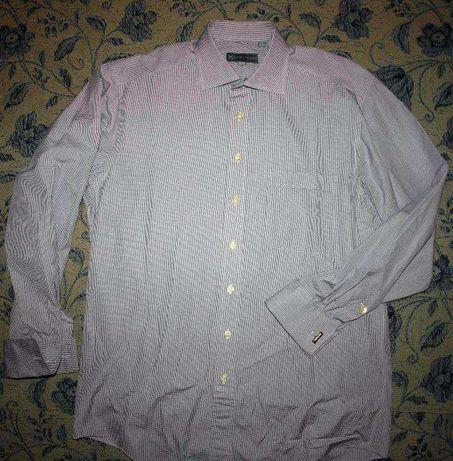 Продам мужскую рубашку люкс под запонки Hickey Freeman, USA